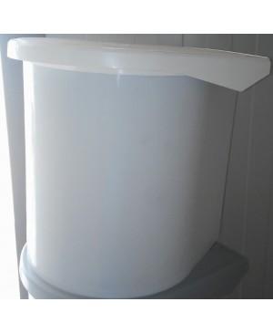 PATTUMIERA TONDA SECCHIO 10 LITRI PLASTIC STEEL BIANCA