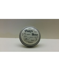 GIUSTI Pomolo pomolino porcellana per mobili PARIS argento antico d.35xh.27 mm