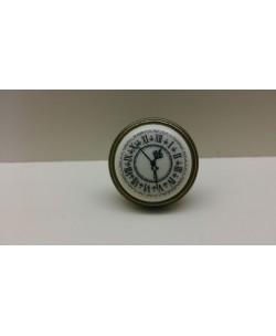 GIUSTI Pomolo pomolino porcellana per mobili TIME antica firenze d.35xh.27 mm