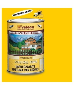 VELECA XILOVAL IMPREGNANTE FINITURA PER LEGNO PROTETTIVO PER ESTERNO 5LT Trasparente