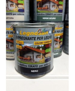 VELECA IMPREGNANTE IDROREPELLENTE PER LEGNO ALL'ACQUA LEGNOSAN COLORS 750ML NERO