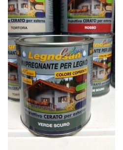 VELECA IMPREGNANTE IDROREPELLENTE PER LEGNO ALL'ACQUA LEGNOSAN COLORS 750ML Verde Scuro