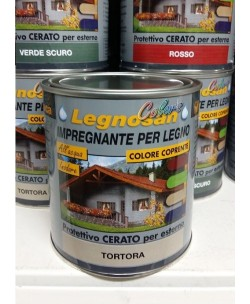 VELECA IMPREGNANTE IDROREPELLENTE PER LEGNO ALL'ACQUA LEGNOSAN COLORS 750ML Tortora