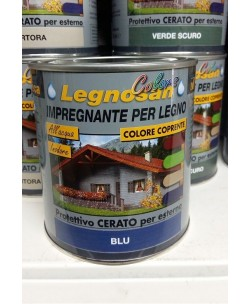 VELECA IMPREGNANTE IDROREPELLENTE PER LEGNO ALL'ACQUA LEGNOSAN COLORS 750ML Blu