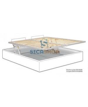 PESSOTTO Pratik sistema rialzo orizzontale piano letto + telaio ortopedico 160x200