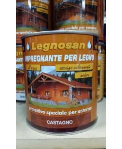 Veleca Legnosan Impregnante Per Legno Pronto All'uso x Esterno Castagno 750 ML