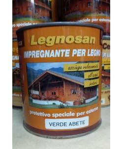 Veleca Legnosan Impregnante Per Legno Pronto All'uso x Esterno Verde Abete 750 ML