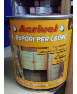 Veleca Acrivel Turapori Fondo Trasparente 750 ML All'acqua e inodore x Legno