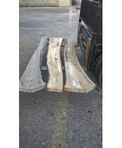 3 Tavole tavoloni noce nazionale mm 65 x 2450 x larghezza med. 70cm N3 ITALIA