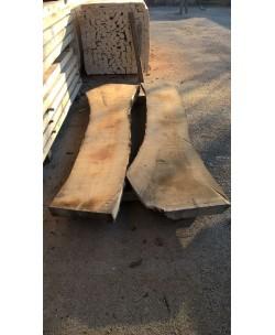 2 Tavole tavoloni frassino europeo mm 100 x 2300 x larghezza mediata 90cm - 4T
