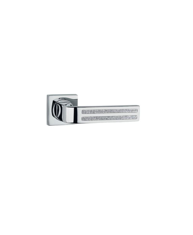 Maniglie maniglioni cottali cromo lucido lambo 2kr - Maniglie per porte interne classiche ...