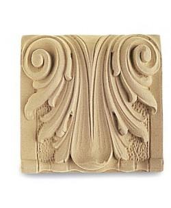 Fregio Decoro in Pasta di legno 114x108mm per Restauro e Arredo 4858