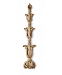Fregio in pasta di legno cm4x20.5 per Restauro e Arredo 4517M