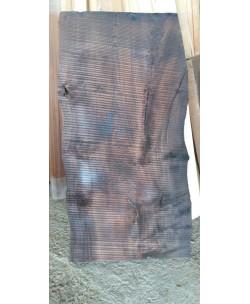 Tavolone lavabo arredo in Castagno lavorato a mano 62x550/640x1220 tinto noce