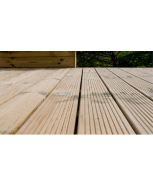 Pircher Decking 35 listoni pavimento zigrinato in Pino impregnato mm33x145x2000