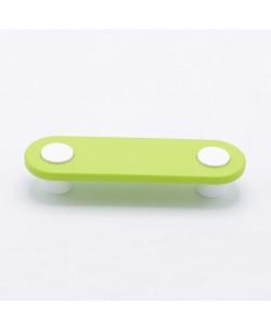 Maniglia bimbi per Cameretta Tipo occhi colore verde INT.96 mm 135X40mm