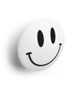 Pomolo smile per cameretta bimbi colore bianco
