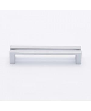 Maniglia cucine tradizionali e moderne effetto alluminio int. 128 mm