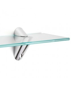 Reggimensola supporto effetto alluminio larghezza 85 mm