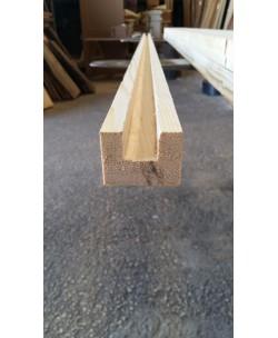 Terminale listello legno abete da mm2000 per Grigliati sezione mm 35x45 canale mm 20