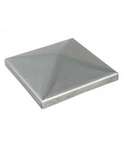 1 confezione (4 pezzi) copripilastri acciaio zincato quadrati 100 x 100