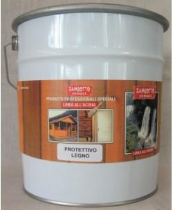 Vernice Acrilica Protettiva per Legno Trasparente all'acqua 2,5 LT