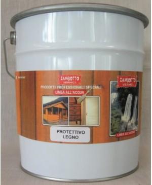 Vernice Acrilica Protettiva Legno per Interni ed Esterni Trasparente all'acqua 10 LT
