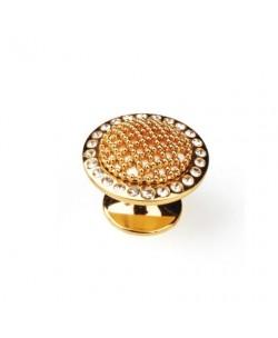 Pomello Dorato con micro perle diametro 33,3 mm profondità 29,3 mm in Pvc
