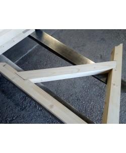 Braccio/Supporto in legno lamellare Abete cm 90 x cm 90 con incastro