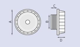 aspiratore da parete serie S con presa d'aria
